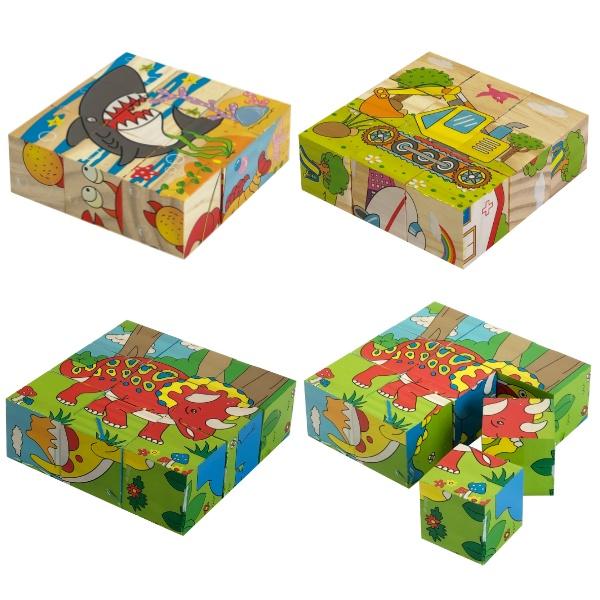 Дървени кубчета 9 броя