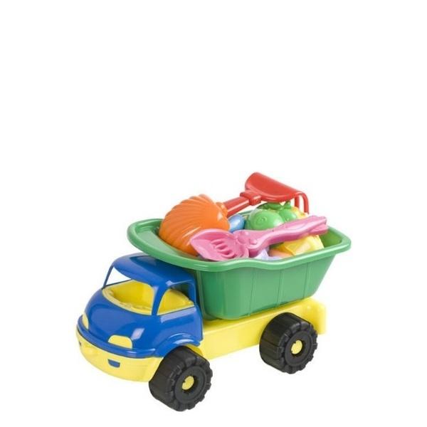 Камионче с фигурки за пясък- 7 части