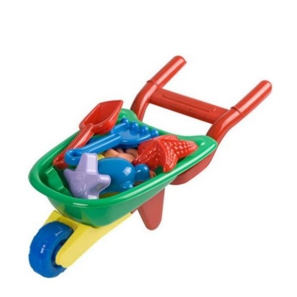 Строителна количка с формички за пясък