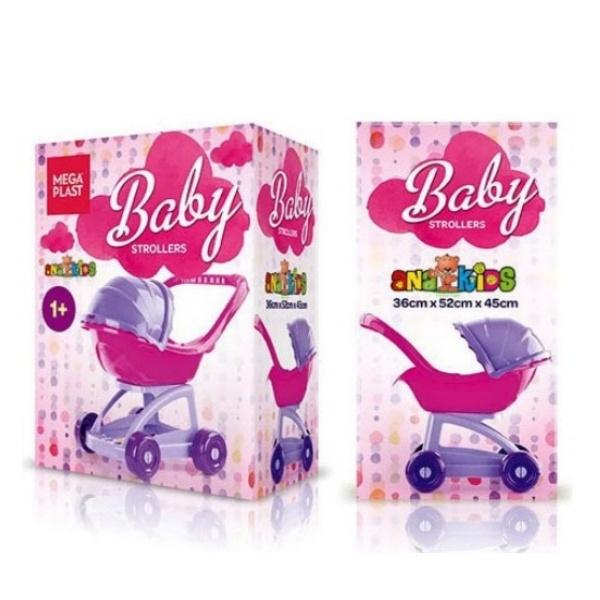 Пластмасова бебешка количка с кутия