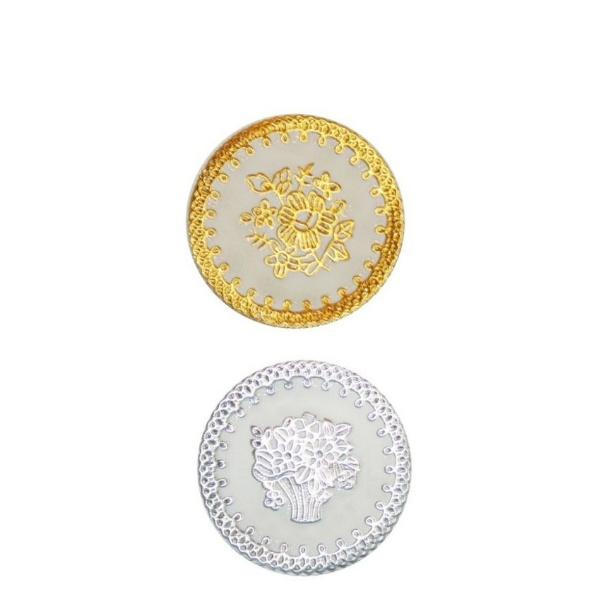 Комплект силиконови подложки за чаши- Дантела