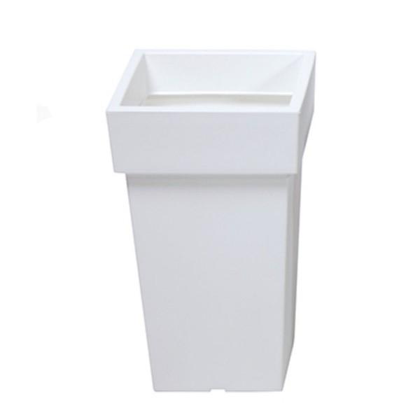 Саксия LOFLY 28,9 см Х 28,9 см бяла
