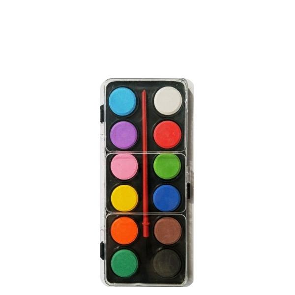 Водни бои 13 цвята 2 см