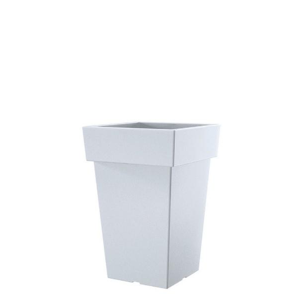 Саксия LOFLY 19,3 см Х 19,3 см бяла