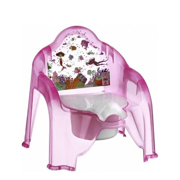 Детско гърне столче розово- Морско дъно