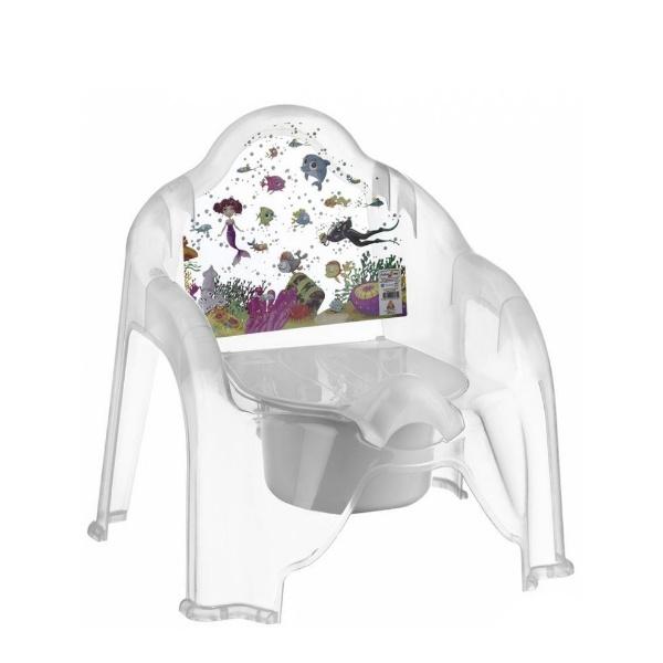 Детско гърне столче прозрачно- Морско дъно