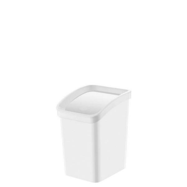 Кош с люлеещ капак - Бяло 3,3 литра
