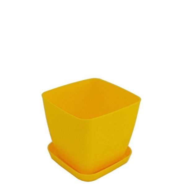 Саксия ФЛОРА 12 см Х 12 см жълта