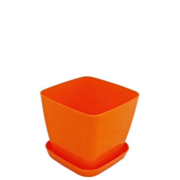 Саксия ФЛОРА 12 см Х 12 см оранжева
