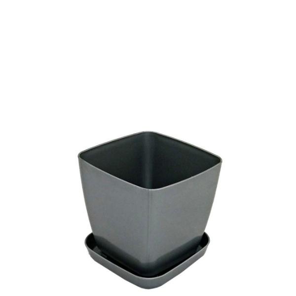 Саксия ФЛОРА 12 см Х 12 см сива