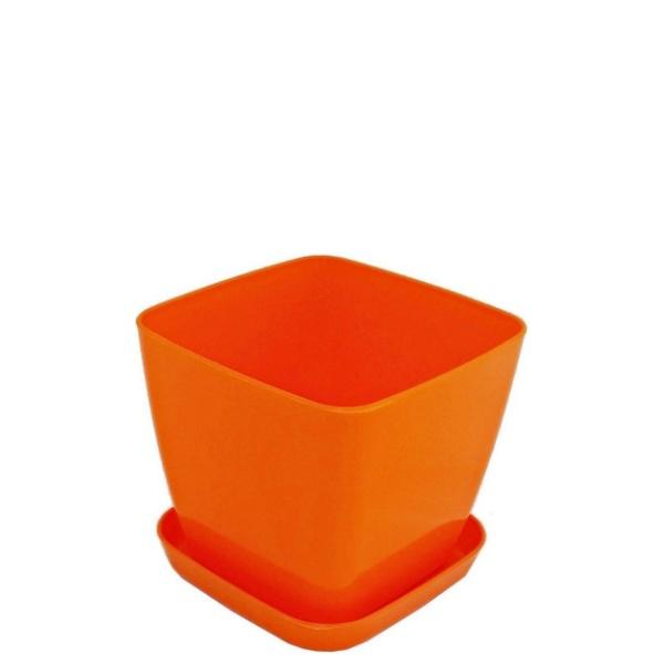 Саксия ФЛОРА 16 см Х 16 см оранжева