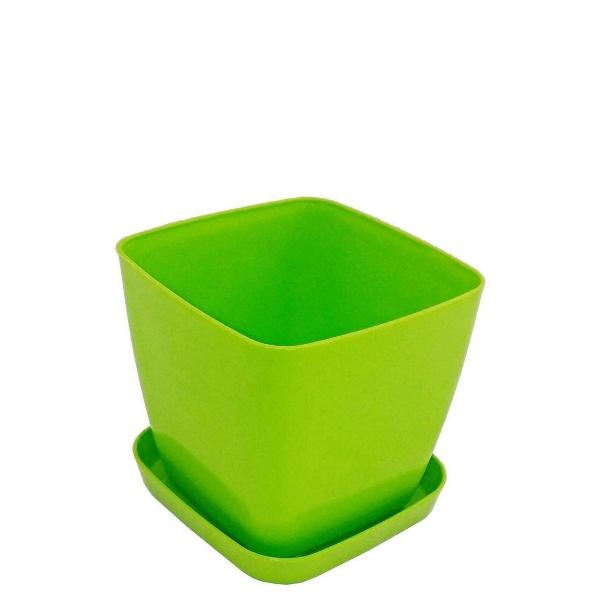 Саксия ФЛОРА 20 см Х 20 см зелена