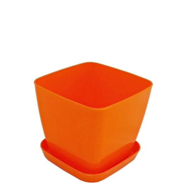 Саксия ФЛОРА 20 см Х 20 см оранжева