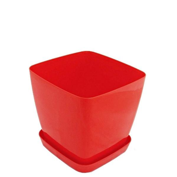 Саксия ФЛОРА 20 см Х 20 см червена