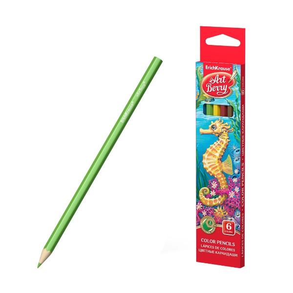 Цветни моливи 6 цвята шестоъгълни