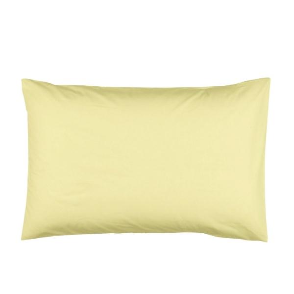 Памучна калъфка за възглавница - жълта