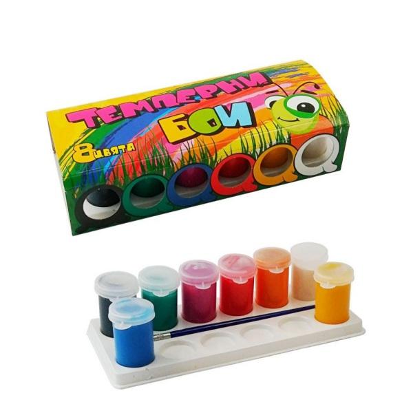 Темперни бои - 8 цвята
