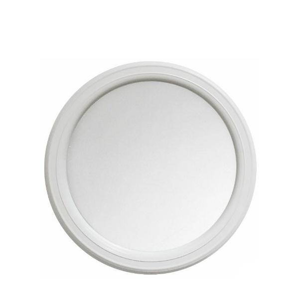 Голямо кръгло огледало - бяло