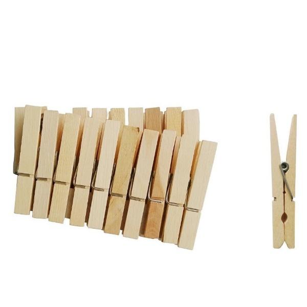 Дървени щипки за пране 9 см