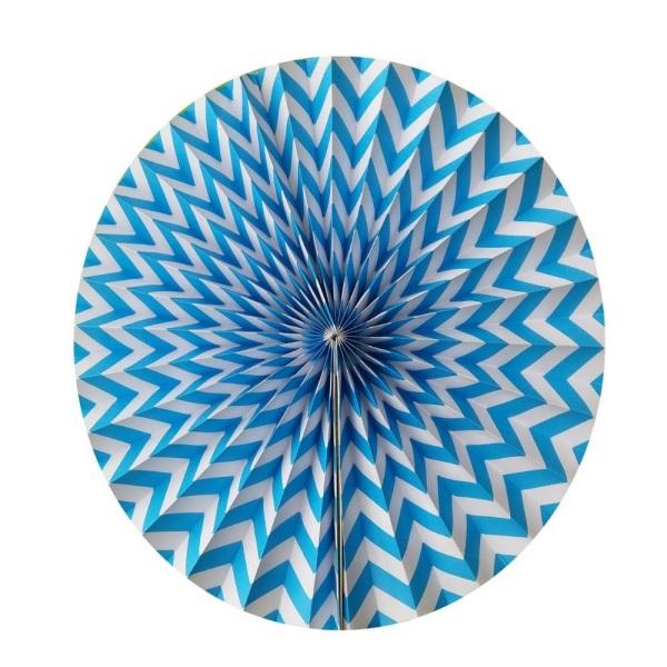 Парти украса хартиен кръг райе 35 см