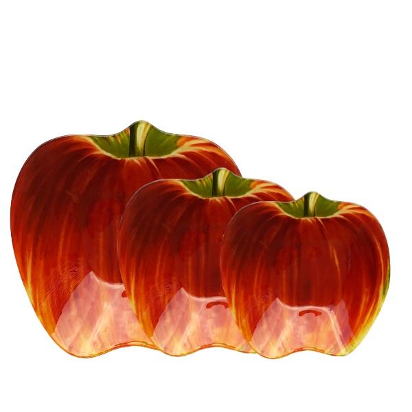 Купа стъкло 3 броя - Ябълка