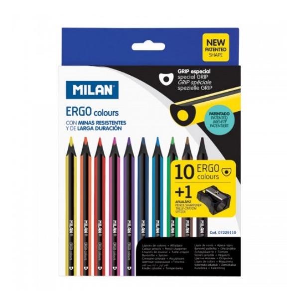 Цветни моливи MILAN ERGO GRIP