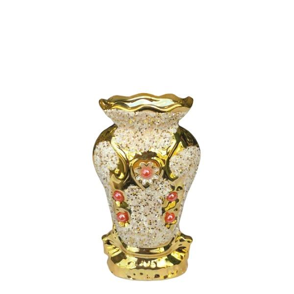 Керамична ваза Златна