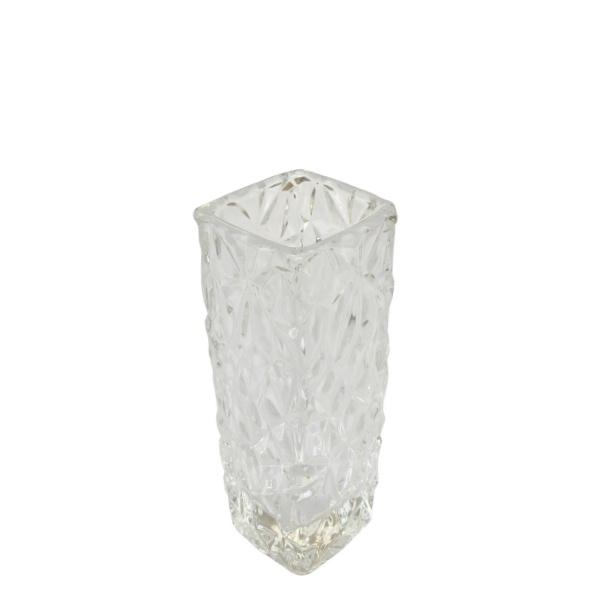 Гравирана стъклена ваза