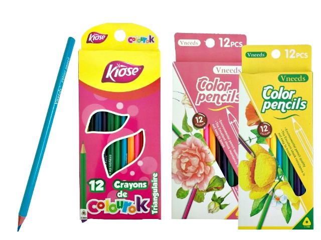 Цветни моливи Vneeds - 12 цвята