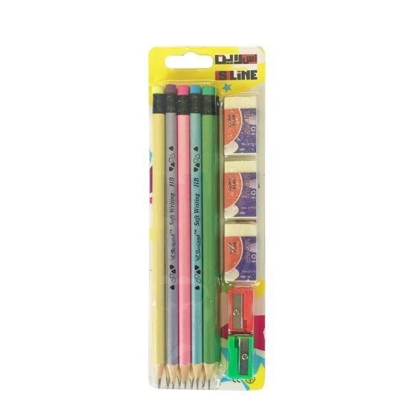 Комплект графитни моливи - 10+5 части