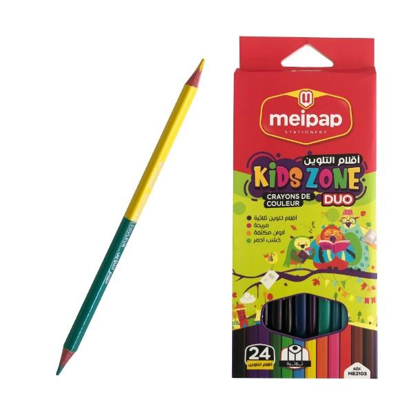 Двувърхи цветни моливи - 24 цвята
