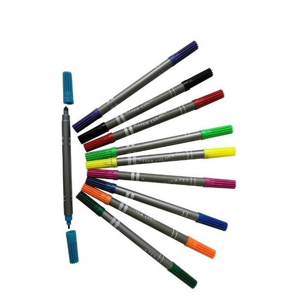 Двувърхи флумастери 12 цвята