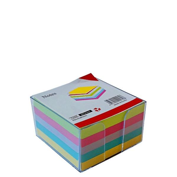 Лепящи цветни листчета в кутийка 500 броя