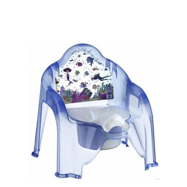 Детско гърне столче синьо - Морско дъно