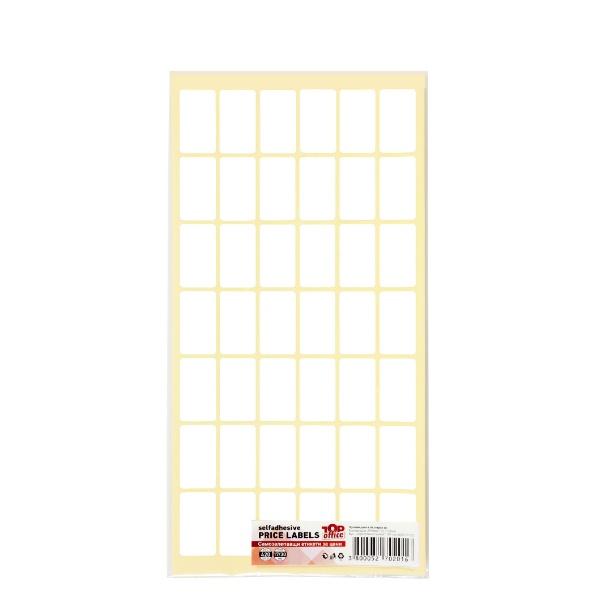 Самозалепващи етикети за цени 17/30 мм - Бели