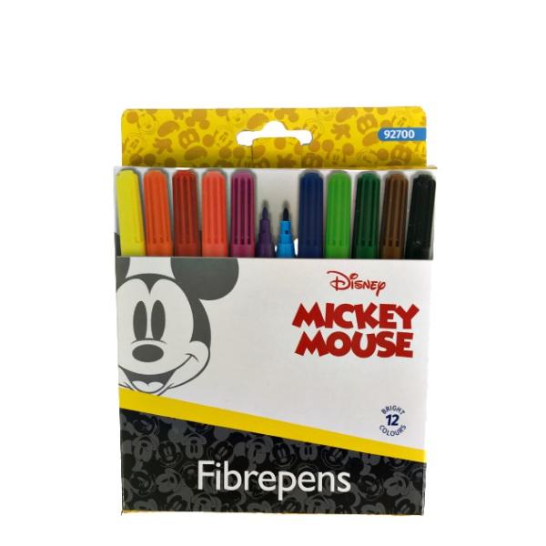 Флумастери 12 цвята - Mickey