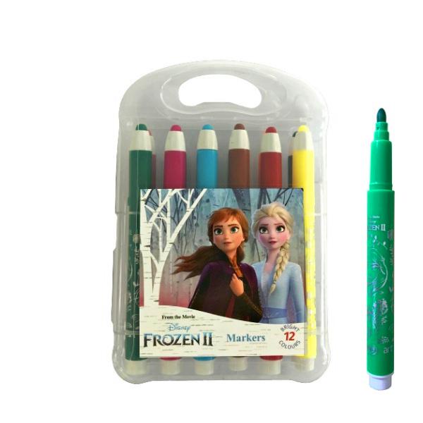 Маркери 12 цвята - Frozen II