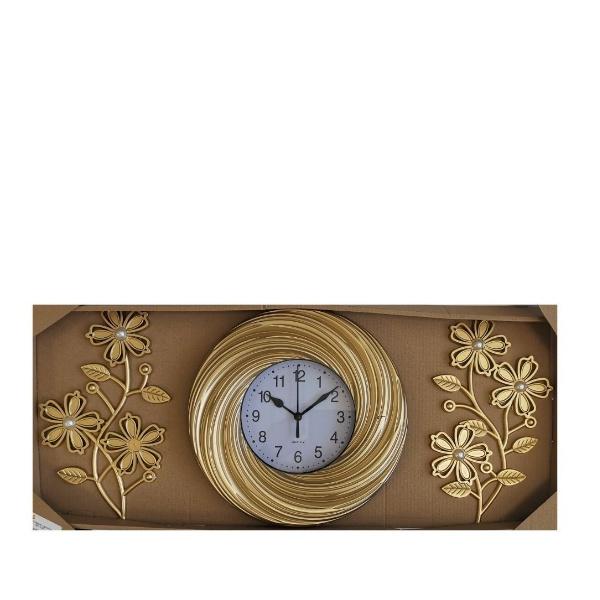 Комплект часовник Златно цвете с 2 броя декорации