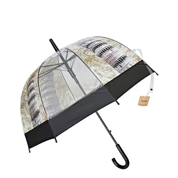 Дамски чадър 60 см с черен кант Забележителности