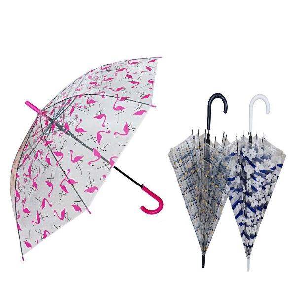 Дамски прозрачен чадър 60 см