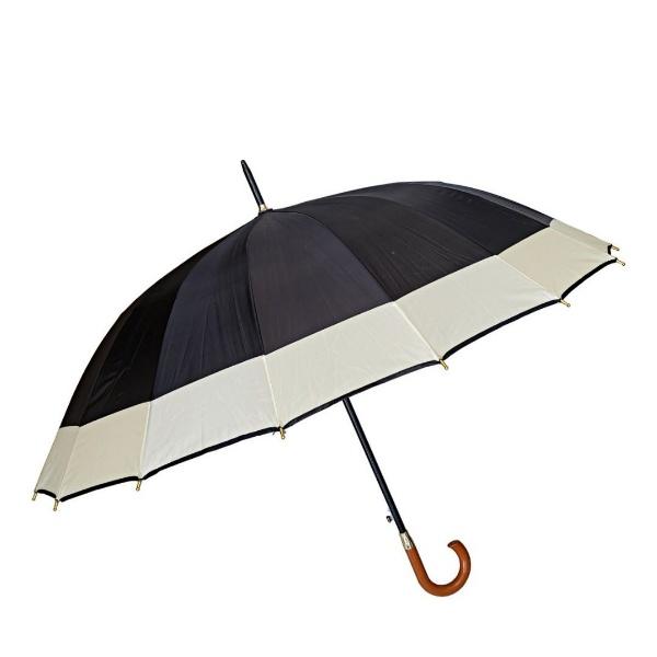 Мъжки двуцветен чадър 65 см