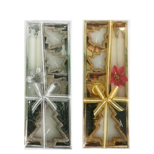 Коледен комплект свещи 6 части