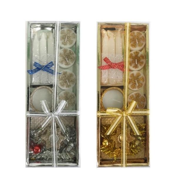 Коледен комплект свещи 9 части