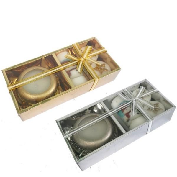 Коледен комплект свещи 4 части