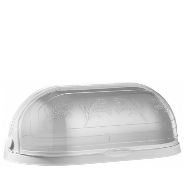 Кутия за хляб с декор бяла