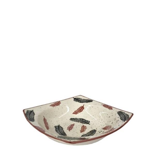 Керамична купа за салата с декор