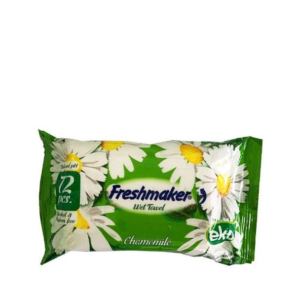 Влажни кърпички FRESHMAKER ЕКО с етикет 72 бр