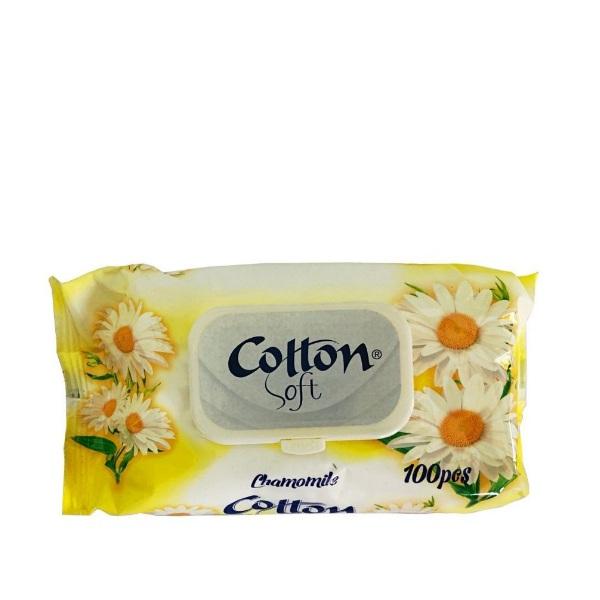 Влажни кърпички COTTON SOFT Лайка 100 бр