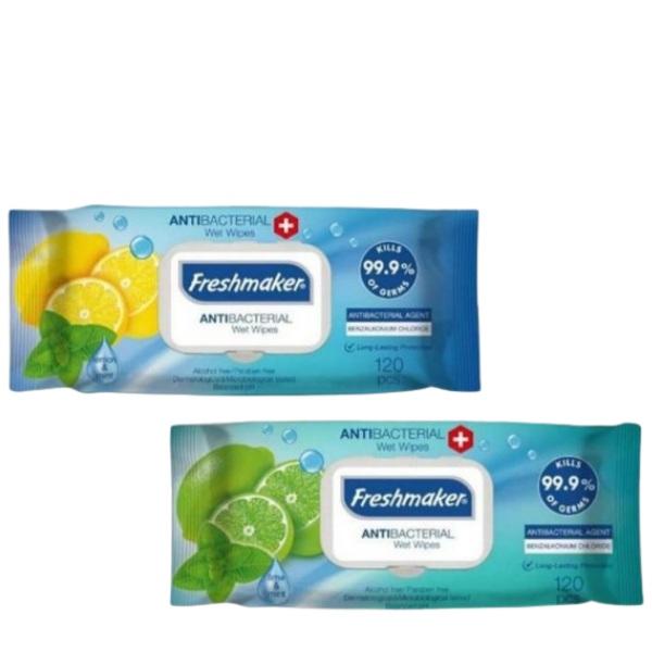 Влажни кърпички FRESHMAKER антибактериални 120 бр