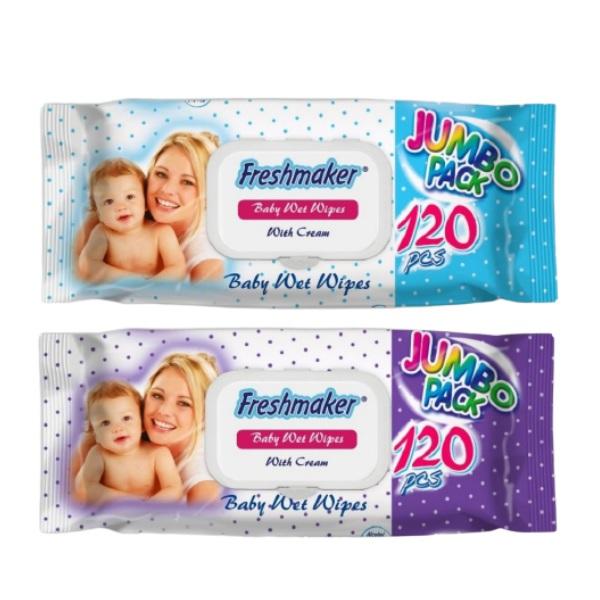 Влажни кърпички FRESHMAKER jumbo pack 120 бр